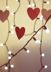 Recycle Christmas decs for a little Valentine's sparkle.