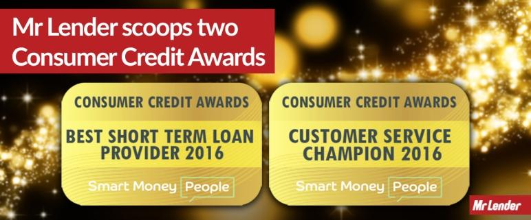 Mr Lender scoops 2 consumer credit awards